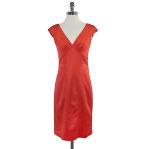 David Meister Cocktail Dress Structured Salmon 10